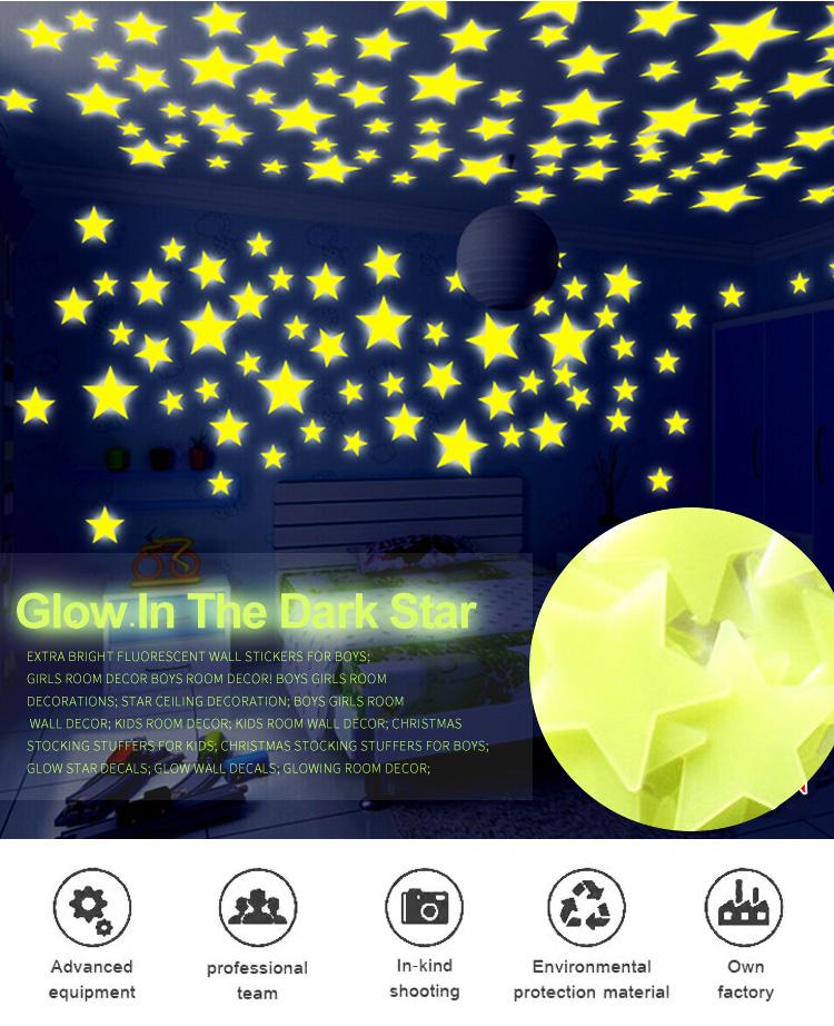 Free Samples Luminous Bright Glow In The Dark Stars Stickers