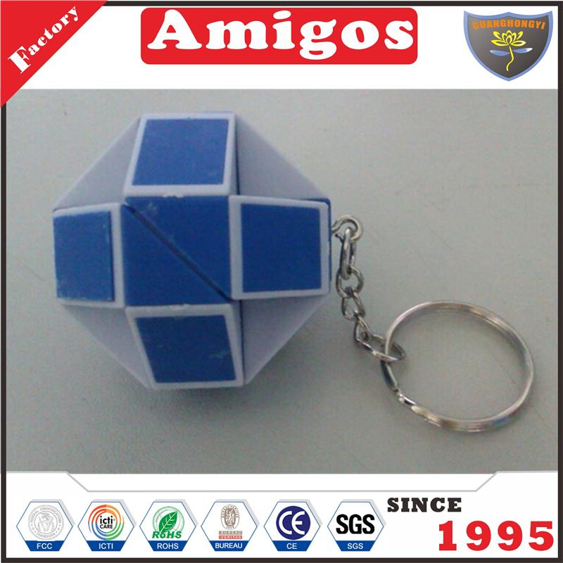 baby ruler orange green red blue magic cube puzzle from China