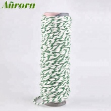 China supply white+green dreff twist mop yarn NE 0.6S/1 polyester cotton blend recycle yarn for mop