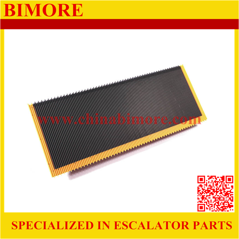 BIMORE 1705842400 Escalator stainless steel step with 3 sides yellow plastic demarcations for Thyssen
