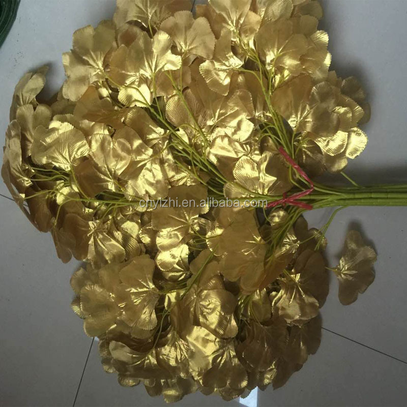 Decorative simulated leaf types of ornamental plants stocking flowers designs