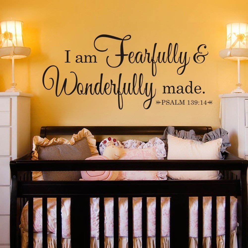 Buy I Am Fearfully and Wonderfully Made Bible Verse Vinyl Car ...