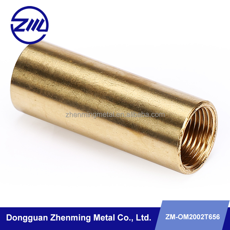 US Standard Precision Machining Service , Small Metal Lathe Parts brass tube sleeve