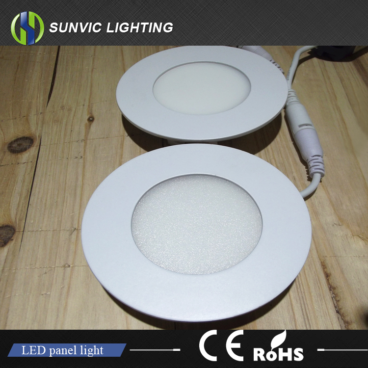 3w-24w Ultra slim 2 4 6 8 inch recessed led smd plastic downlight