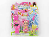 Wholesale mini baby doll set children doll accessories play set