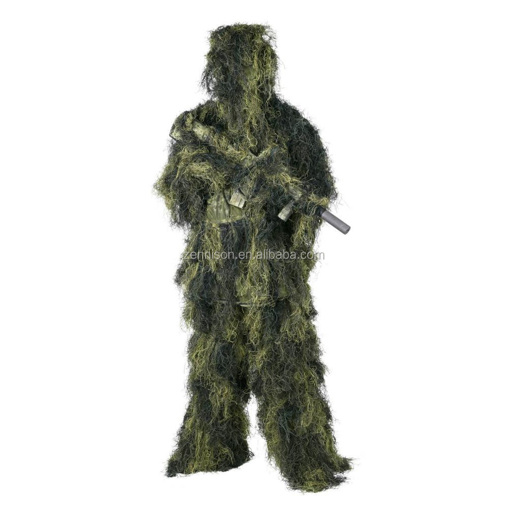 Hot new products army one single 종 design 건설 사냥 camouflage 한 벌 ghillie 잘 벌