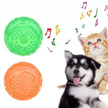 2 pcs Pet Dog Cat Play Squeaky Squeaker Sound Chew Treat Holder Ball Floated Toy AC5929