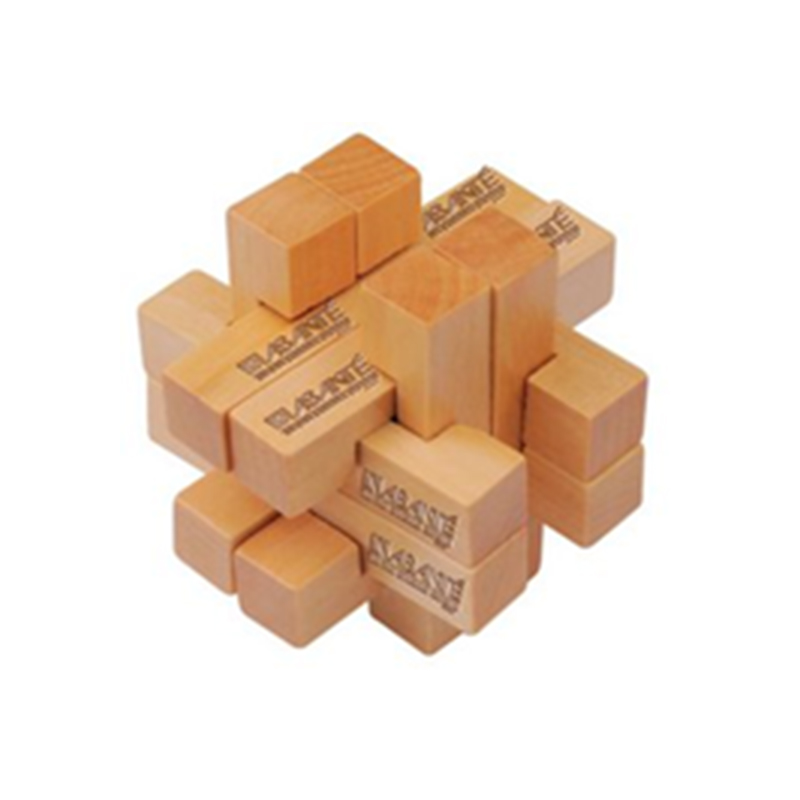 customized printed educational kids gifts wood block puzzle cubes