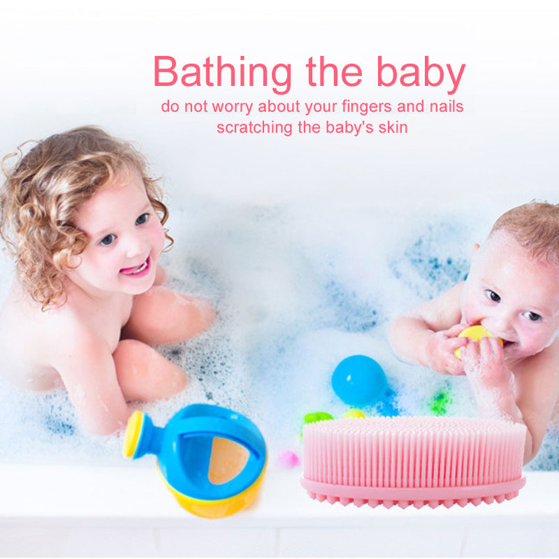 Baby Bath Brush Prevent Bacterial Children Silicone Brush And Baby ...