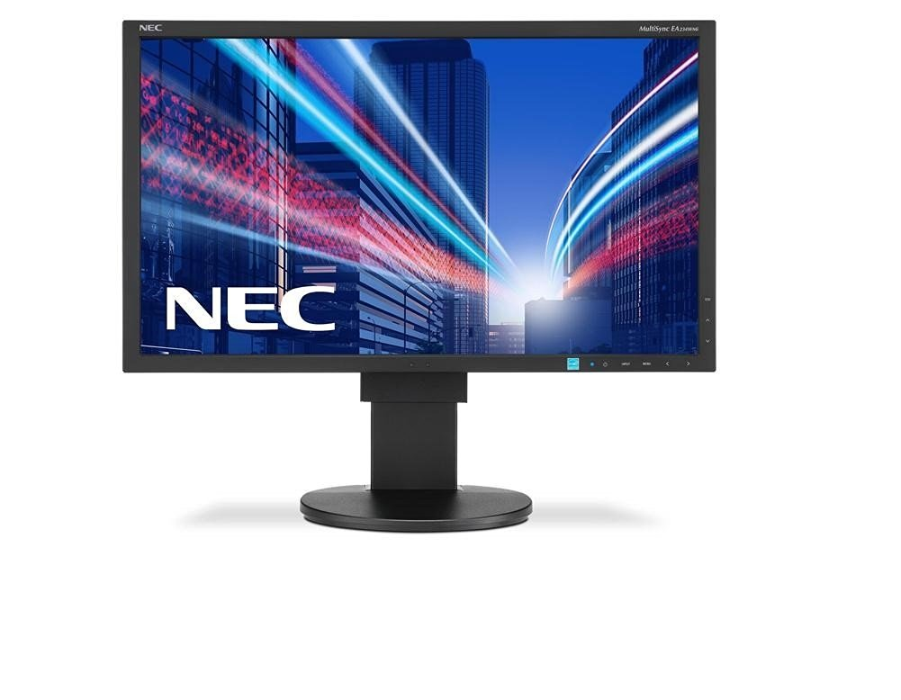 NEC MultiSync EA234WMI-BK 23 inch Widescreen 1,000:1 6ms VGA/DVI/HDMI/DisplayPort/USB LED LCD Monitor, w/ Speakers (Black)
