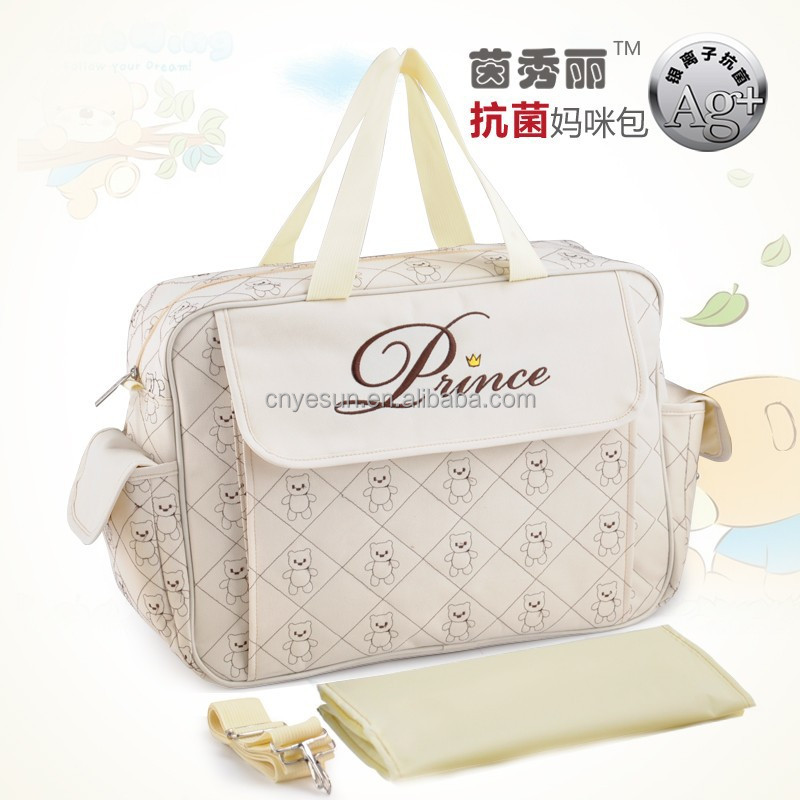 Waterproof Antimicrobial 600D Polyester Baby Diaper Bags Set