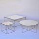 Acrylic plastic top stainless steel centre tea table with removable legs