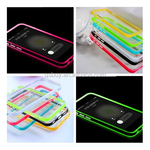 LED Flesh Light UP Case Incoming Call Flash Case <strong>Cover</strong> for iPhone 6 Plus