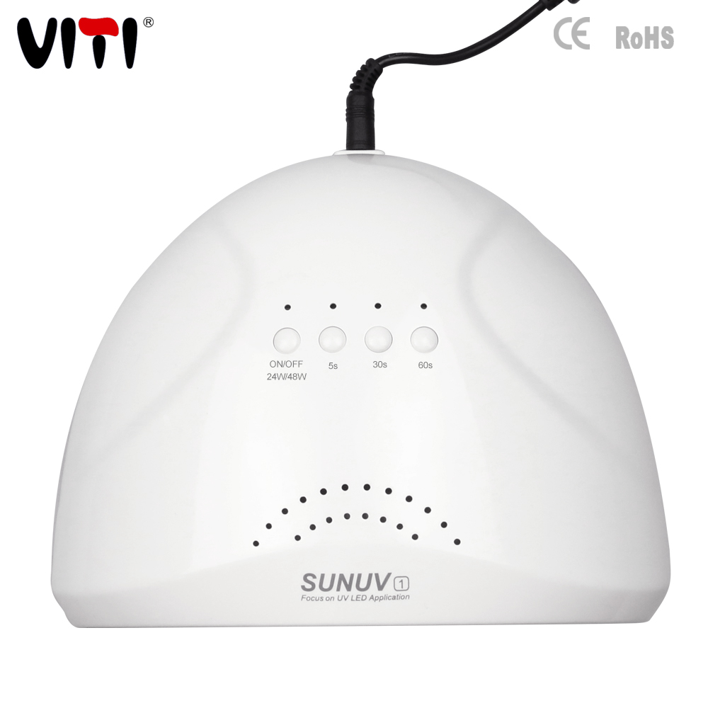 Professional white color sun light nail dryer 2 in 1 48W 365nm uv led nail lamp