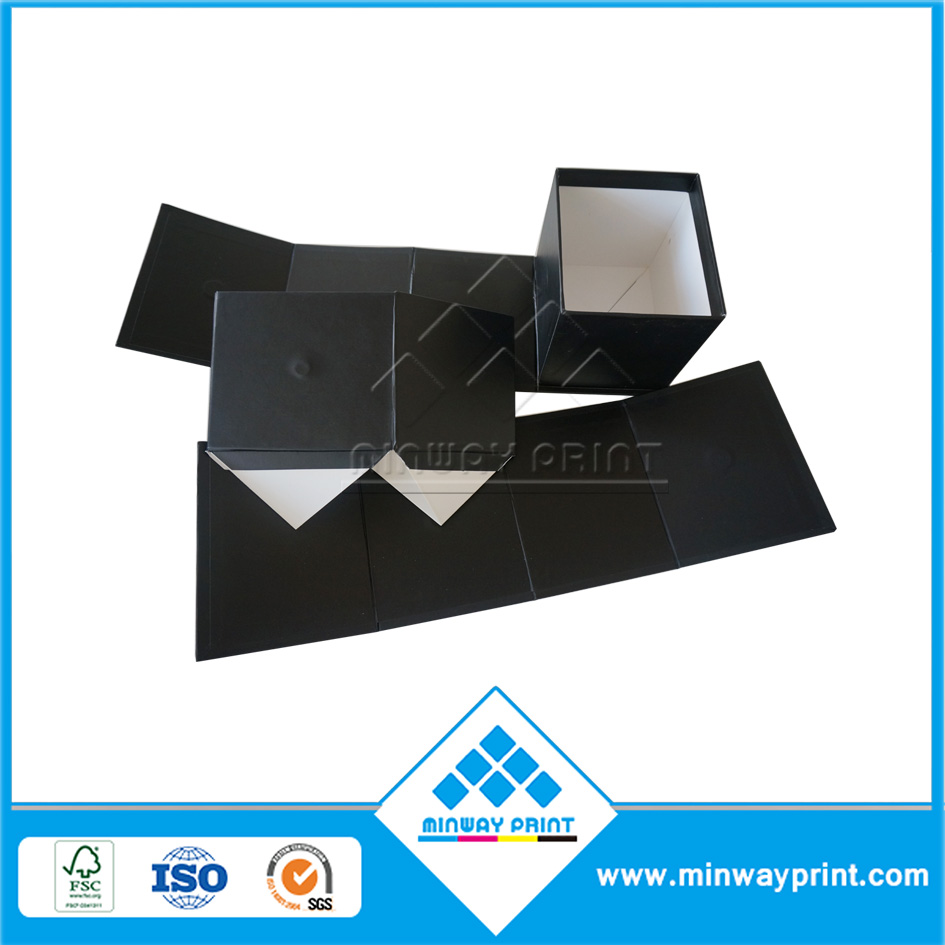 Good Quality Plain Black Cardboard Printing Foldable New Products Gift Box with Logo Manufacturer