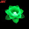 Led color changing handmade white glass lotus flower candle holder wholesale for wedding decoration