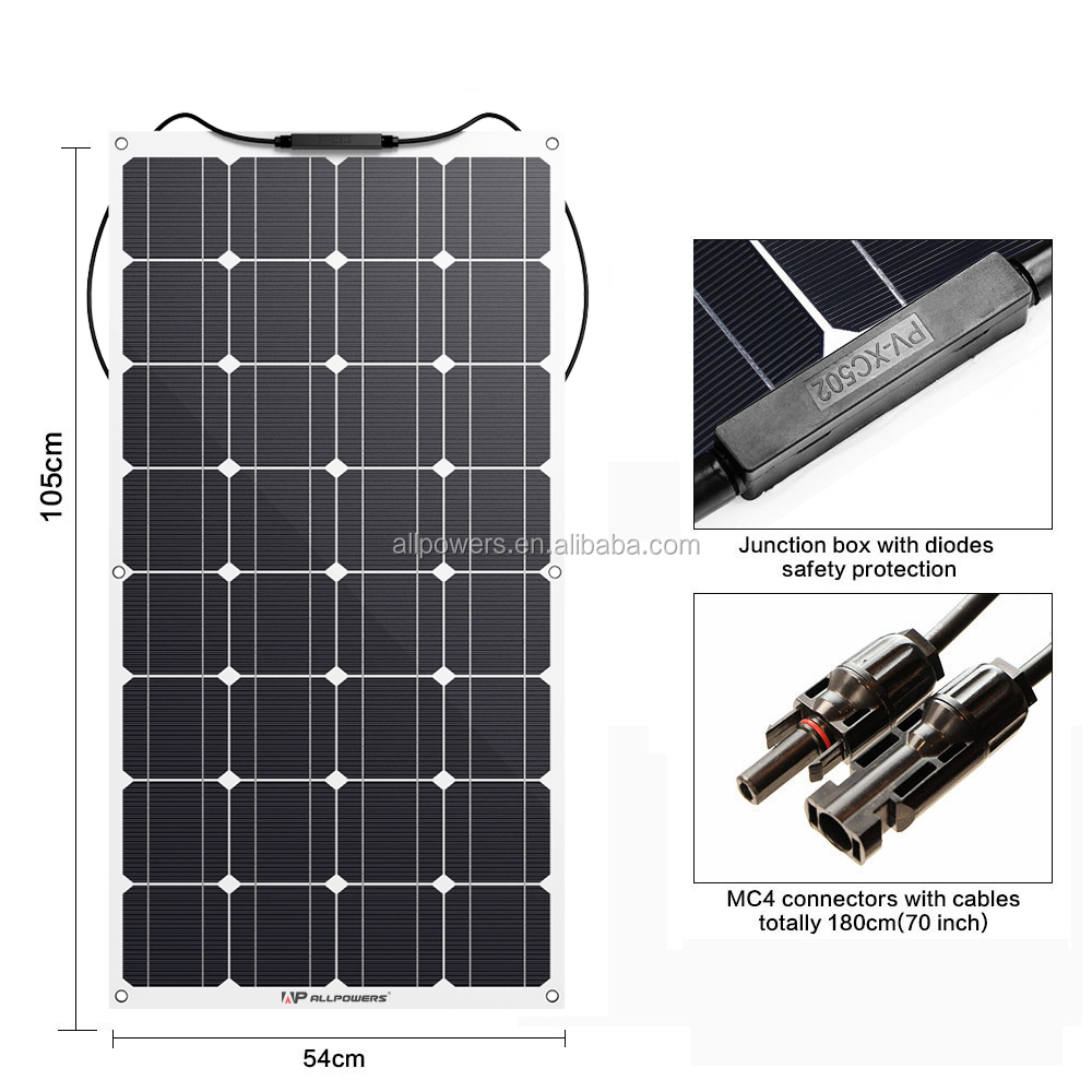 18V 24V 100W 200W flexible solar pannel
