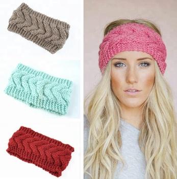 Hotting Wide Knit Headbandcable Braided Earwarmercrochet Head Wrap