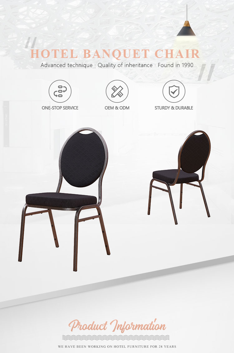 Hot sale wholesale furniture iron hall wedding stacking ovral back modern metal banquet chair