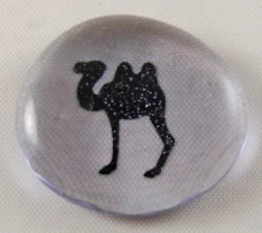 Camel Colored Glass Imprinted Recovery Sobriety Stones