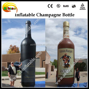 Giant inflatable champagne bottle model, China inflatable bottle, cheap price bottle replica