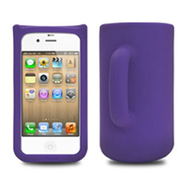 Cups and mugs cellphone silicone case for iphone 4 4g 4s