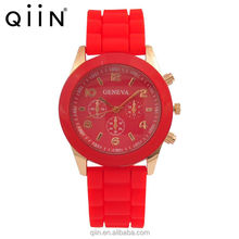 QD0143 Cheap One Dollar silicone 38mm Geneva watches