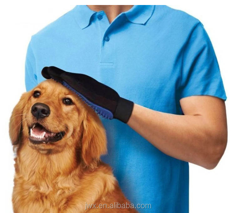 pet grooming glove brush/pet deshedding glove/dog grooming glove