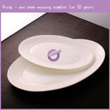 white high quality ellipse turkish dinner ceramic pie plates wholesale for wedding