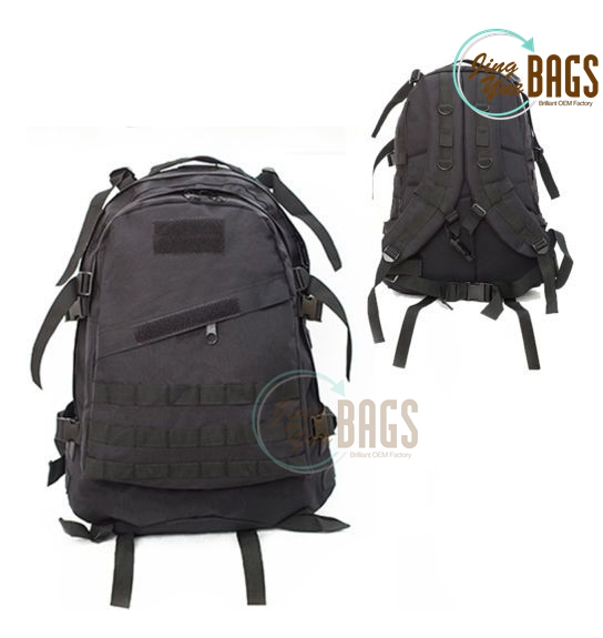 40L Molle 3D Tactical Outdoor Military Rucksack Backpack Bag Camping Hiking Black