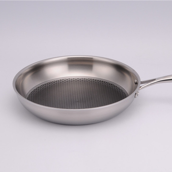 stainless steel  304 induction bottom 0.6mm body coating frypan  20cm22cm24cm28cmfrypan