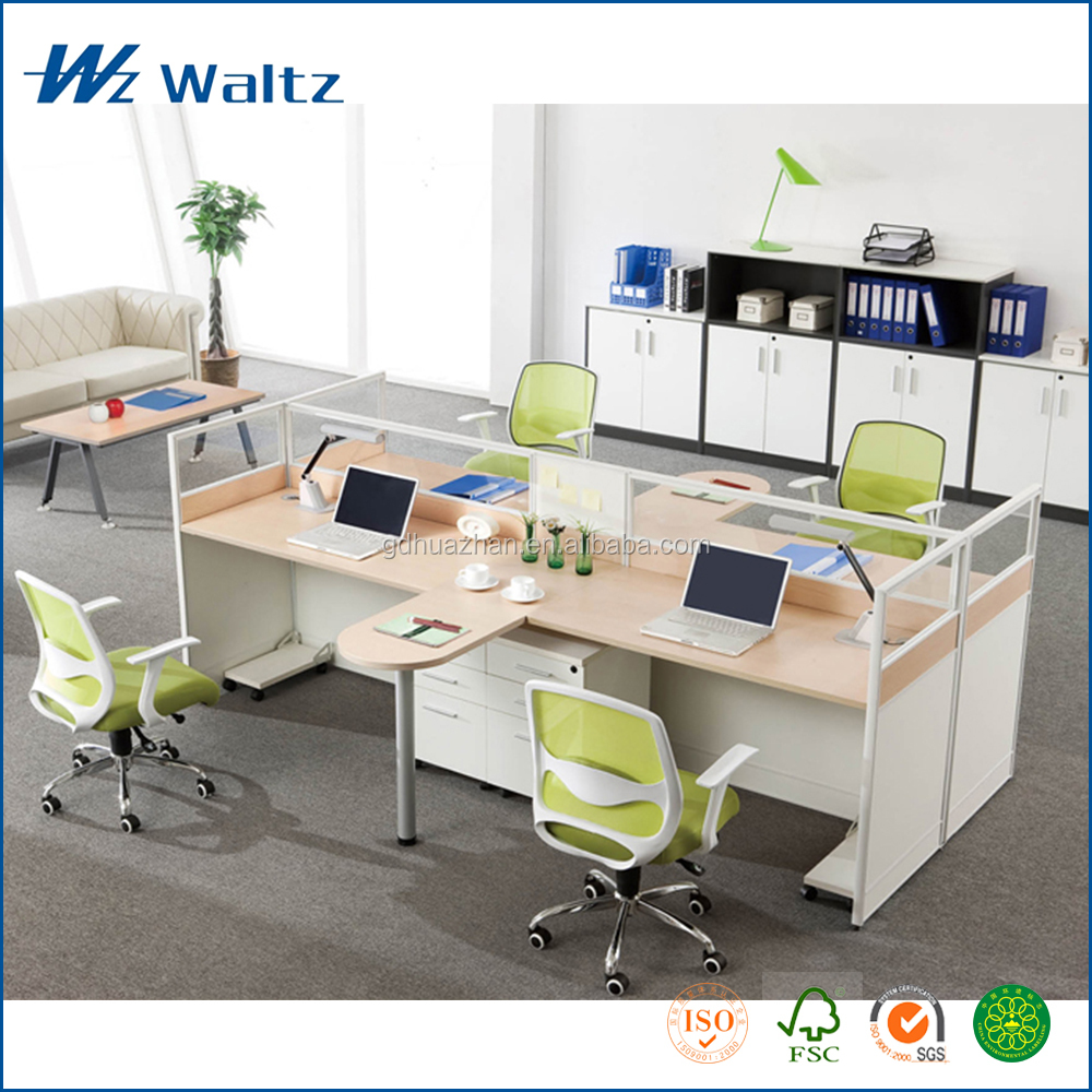 New design workstation furniture MFC/MDF board office cubical workstation partition