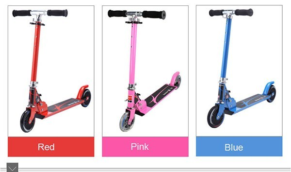 hot sale cheap 2 wheel 120mm CE EN71 kick scooter with two wheel kids scooter