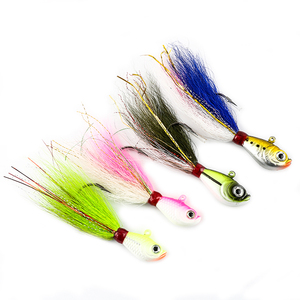 FJORD 10g to 10oz Saltwater teaser jigging lures bucktail lead head jigs with deer hair