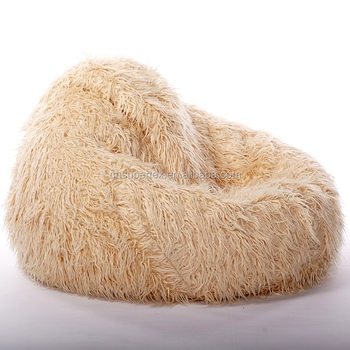 Zitzak Nylon Per Meter.Large Beanbag Cover Shaggy Fur Long Fur Soft Luxury Round Sleeping
