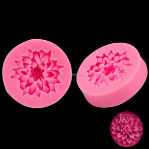 Cheap 3D Flower Shaped Jelly Cake Mould Silicone Chocolate Molds