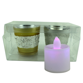 Frosted thick glass candle holder tall candle holders