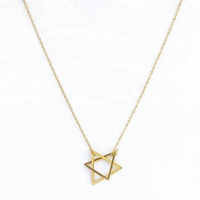 Women's Personalized Gold Plated Line Star Necklace Sterling Silver 925