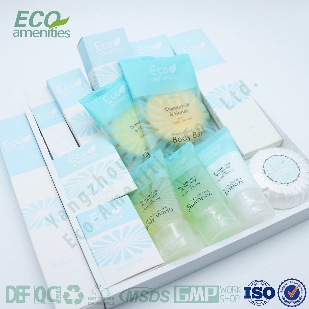2017 OEM ECO hotel use bath gift set spa supplies organic shower gel