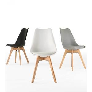 Modern chair bar Nordic Design Polypropylene Plastic wooden Dining table and Chair upholstered hotel dining chair