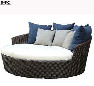 Luxury Cheap Outdoor Patio Daybed Outdoor Furniture Round Sun Bed