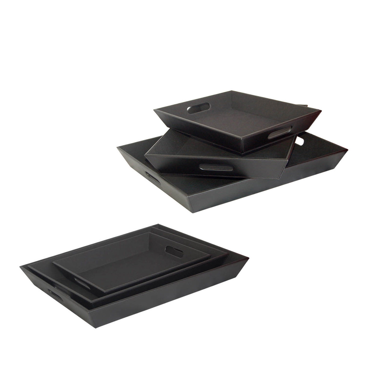 China supplier desktop design custom made document file leather tray