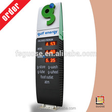 Led billboard advertising light gas station sign price display