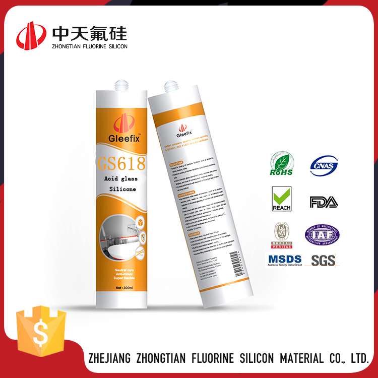 Easy Operation Semi-Fluid Silicone Sealant Waterproof For Glass