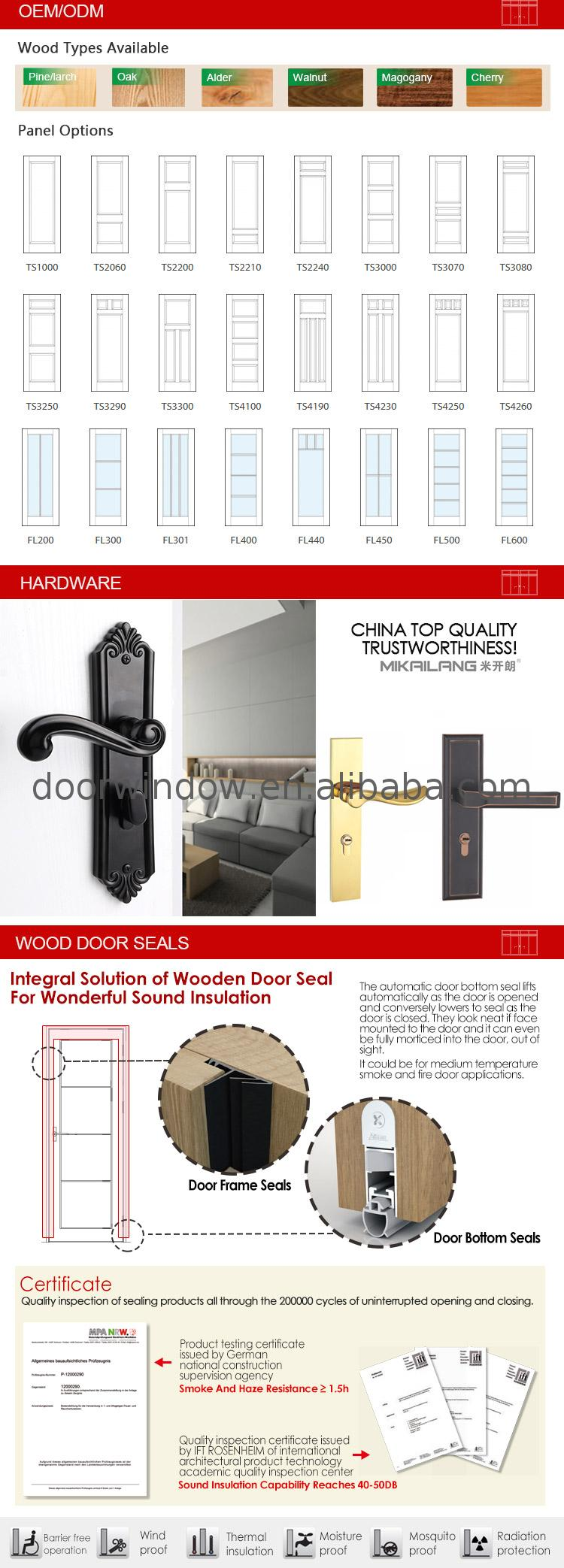 Modern bathroom door making swing doors main design solid wood