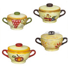 Hot Sell Custom Design Fancy Ceramic Soup Pot with lid Made in China