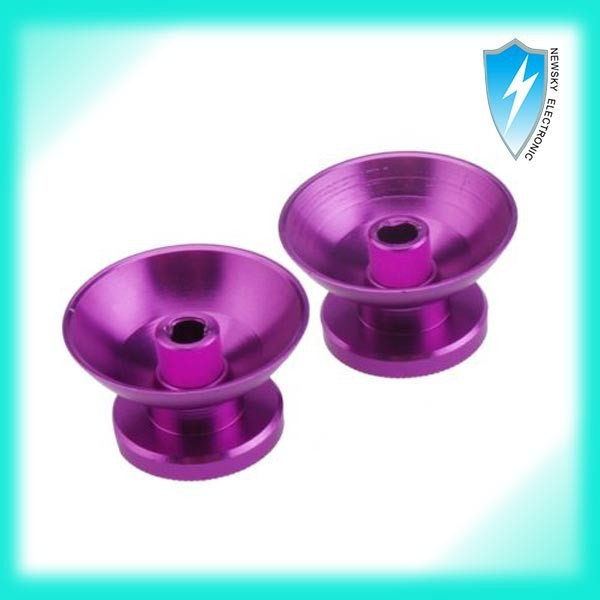 Alluminum Metal Analog Thumbsticks Thumb stick Joystick Cap Cover for PS4 controller in Purple