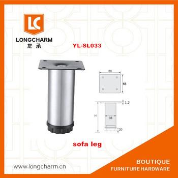 Furniture Fitting Cylinder Metal Cupboard Sofa Leg Feet