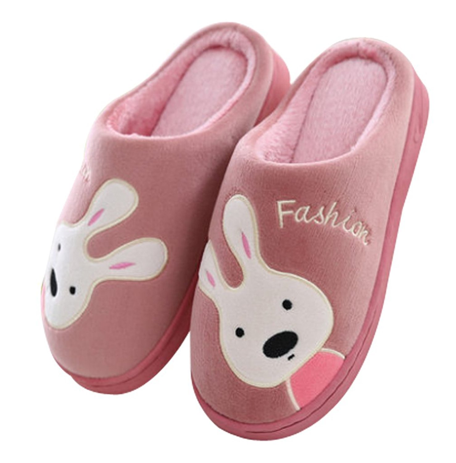 Maybest Womens Indoor Warm Slippers Ladies Girls Cute Cartoon Winter Soft Cozy Non-Slip Plush Mules Home Bedroom Slip-on Shoes