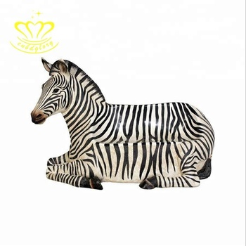 Amusement park products Fiberglass zebra statue Park garden Chair
